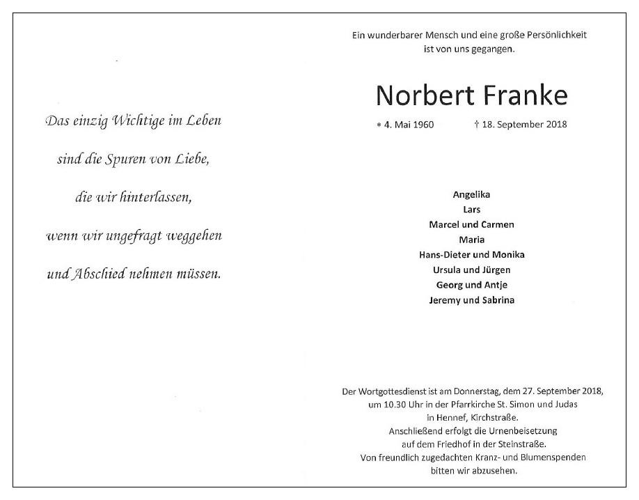 Tod Norbert Franke